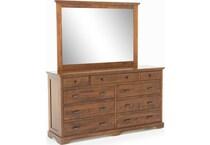 daniel's amish brown mirror