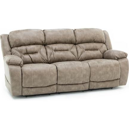 Laramie Fully Loaded Reclining Sofa in Mushrom