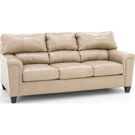 Dolan Leather Sofa in Putty